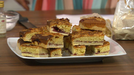Almond Bakewell Slices