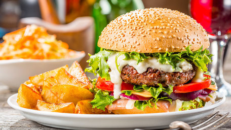 American Style Burger & Fries