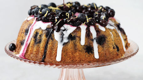Lemon, Poppy Seed and Blueberry Bundt Cake