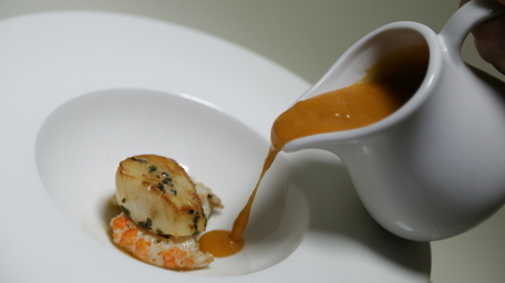 Lobster & Greencastle Crab Bisque with Scallops