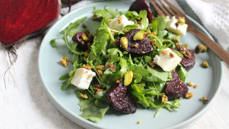 Roast Beetroot, Goats Cheese & Walnut Salad