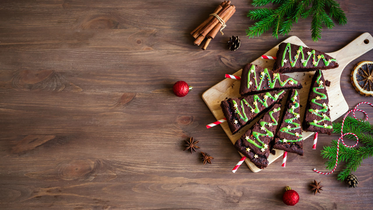 Christmas Tree Chocolate Brownies
