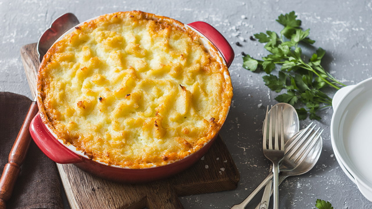 Cheesy Leek and Potato Pie