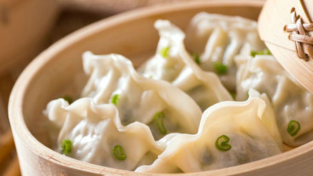 Chinese Dumplings with Pork, Prawn and Chives