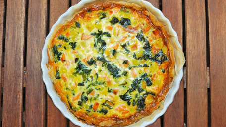Smoked Salmon and Leek Tart