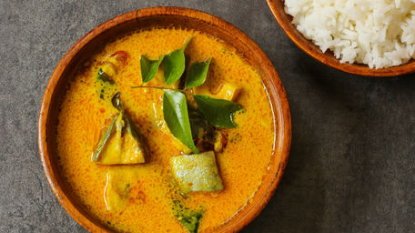 Mild Monkfish & Prawn Curry with Coconut Milk