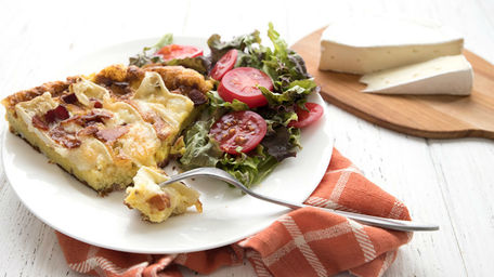 Brie & Bacon Frittata with a Creamy Broccoli Salad