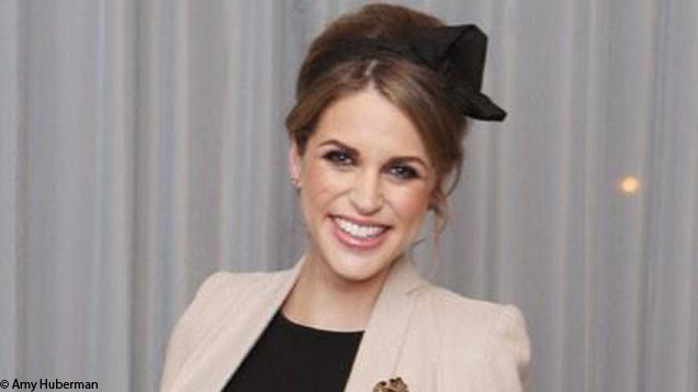 Actress Amy Huberman who is nearly nine months pregnant looks stunning in this Folkster Roan Cape.