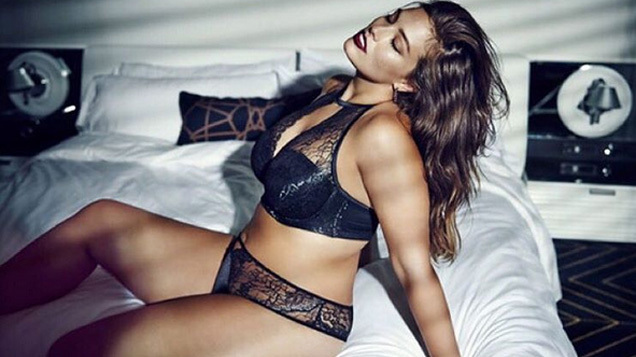 48fa9ddfbb5f Last month, Ashley Graham hit headlines when she modelled a series of sexy  underwear sets on the catwalk during New York Fashion Week.