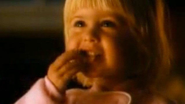 remember the blonde girl from the kellogg s christmas ad she s all