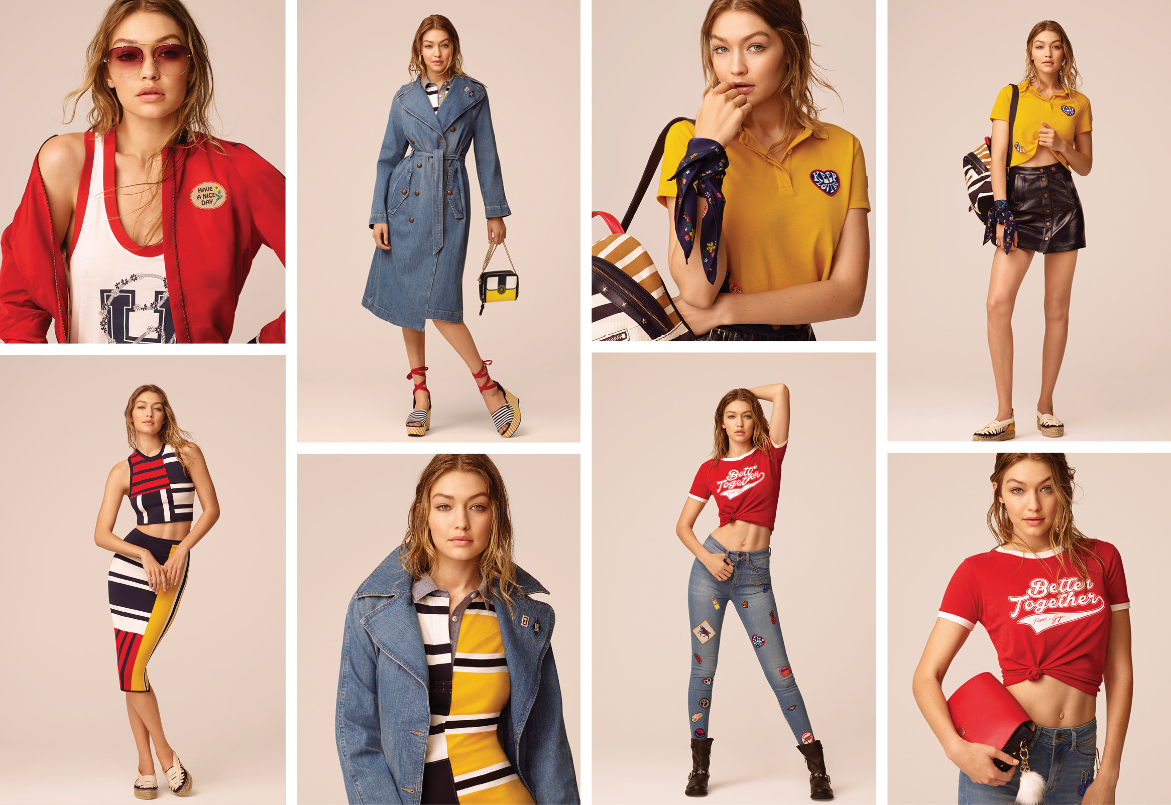 98742830b4a6 Gigi Hadid looks stunning in new Tommy Hilfiger Collection ...