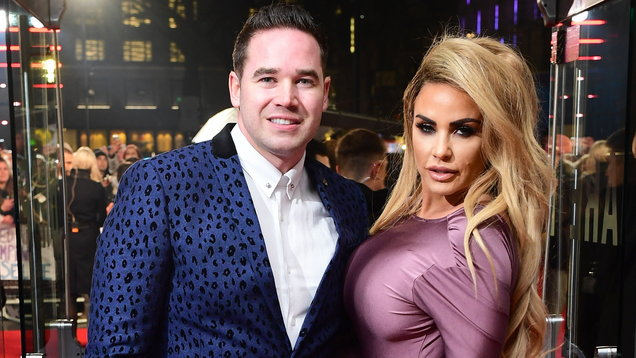 Katie Price 'cuddles up' to husband Kieran Hayler hours after confirming divorce