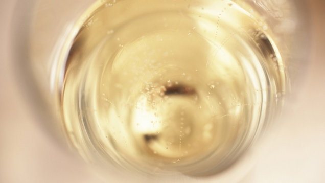 Glass of champagne, close up
