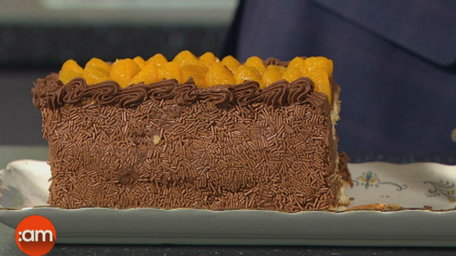 Chocolate Mandarin Layer Cake