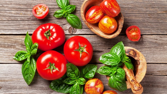 Basil and tomatoes. (Thinkstock/PA)