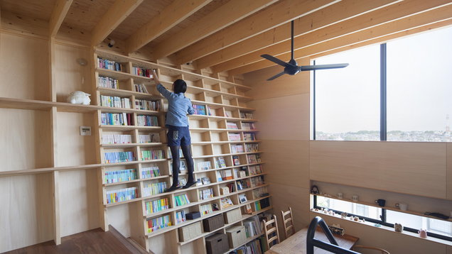 This Incredible House In An Has Floor To Ceiling Bookshelves That Are Earthquake Proof