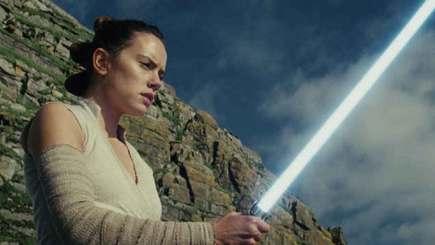 Daisy Ridley in Star Wars: The Last Jedi.