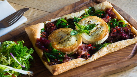 Red Onion & Goats Cheese Tartlets