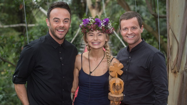 Georgia Toffolo is crowned Queen of the Jungle by Ant and Dec (James Gourley/REX/Shutterstock)