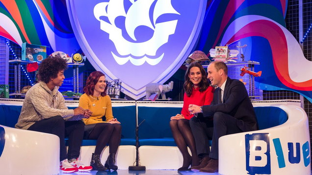 The Duke and Duchess of Cambridge visit Blue Peter (Dan Vernon/BBC/PA)