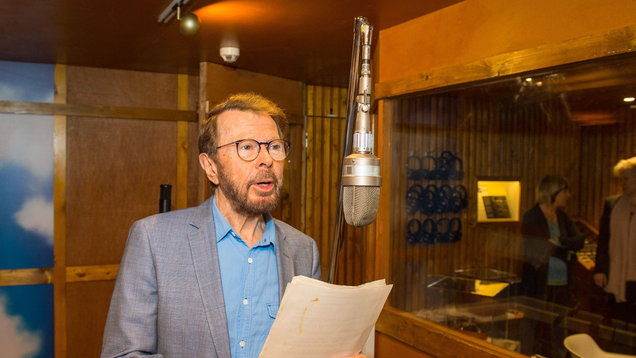 Bjorn Ulvaeus stands in a recreation of Abba's Polar Studios at the launch of the Abba: Super Troupers exhibition (Dominic Lipinski/PA)