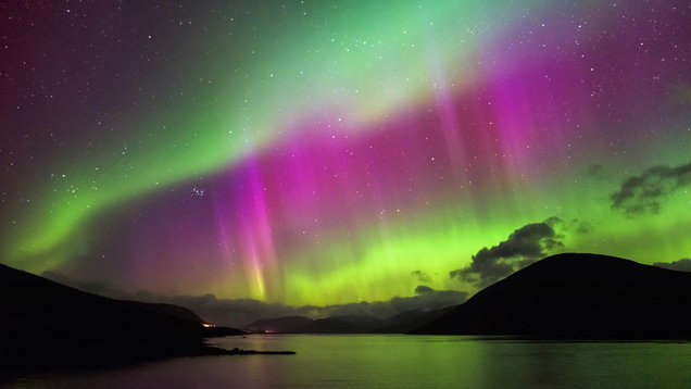 Aurora Borealis - Northern lights, Garve, highlands Scotland