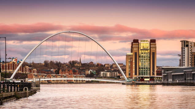 Millennium Bridge at sunset