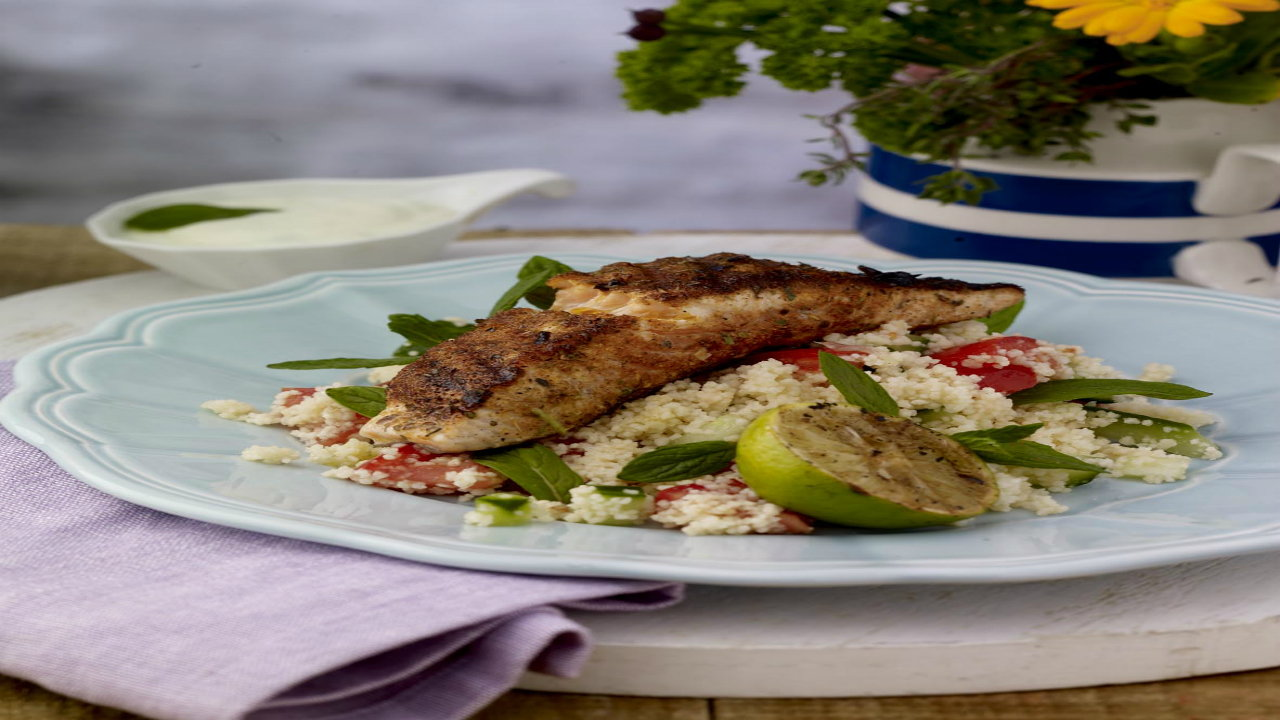 Blackened Salmon, Couscous, Lime dressing | The Six O ...