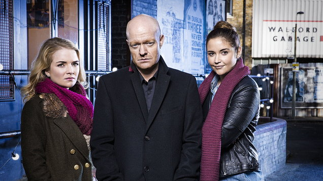 EastEnders characters Abi, Jake and Lauren Branning
