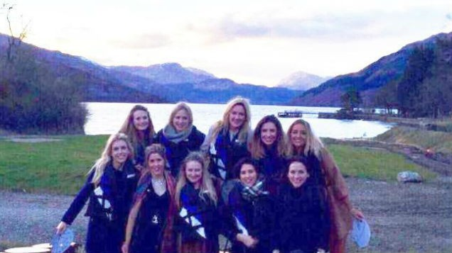 [PIC] Women left HORRIFIED after spotting something VERY unusual in hen party snap