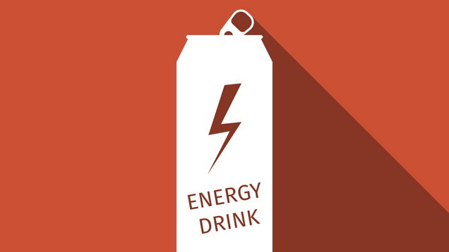 Energy drink flat icon with long shadow. Vector Illustration