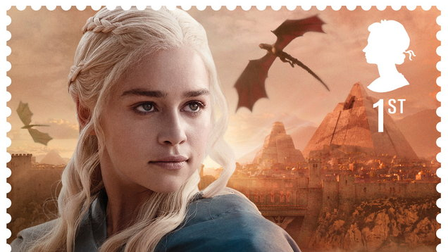 A stamp showing Daenerys Targaryen (Royal Mail/PA)