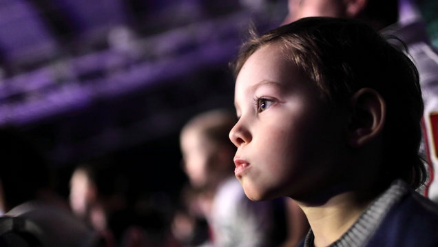 Child at a concert