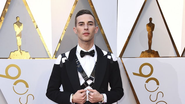 Adam Rippon wore a leather harness on the Oscars red carpet