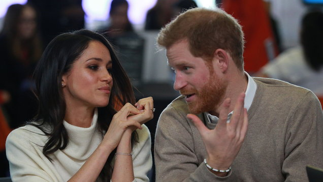 Prince Harry and Meghan Markle meet students on International Women's Day