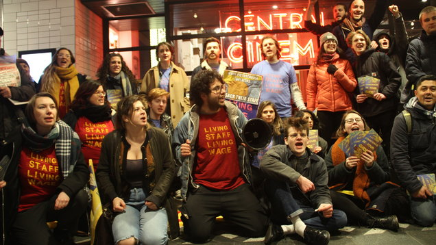 Picturehouse employees protest (Zakariah Gandawalf/PA)