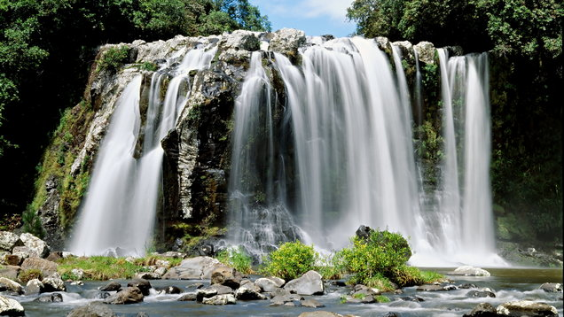 Waterfall in Reunion island