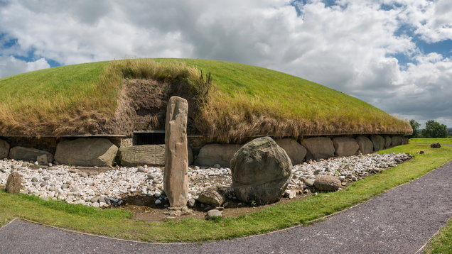 Knowth Neolithic Mound Western Passage Tomb, Ireland