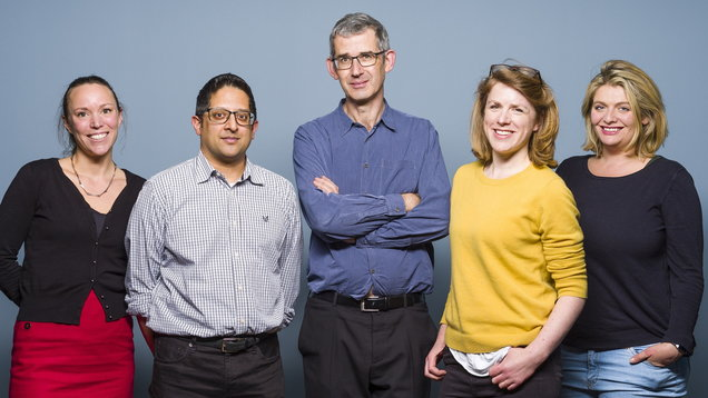 Wellcome Book Prize 2018 judges. Hannah Critchlow, Sumit Paul-Choudhury, Edmund de Waal, Sophie Ratcliffe and Bryony Gordon (Wellcome Book Prize/PA)