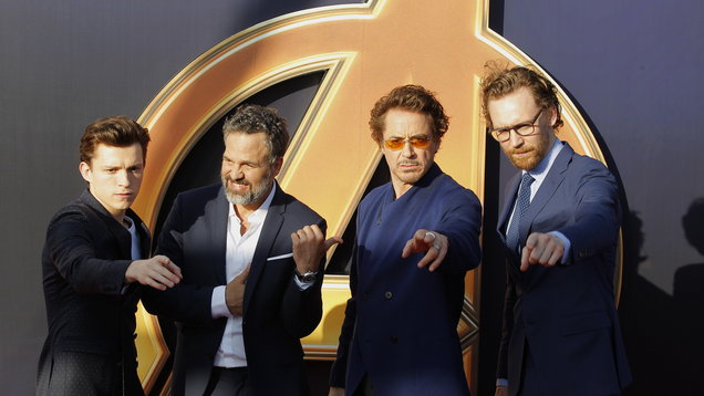 Tom Holland, Mark Ruffalo, Robert Downey Jr, Tom Hiddleston make-up the A-list cast (AP)