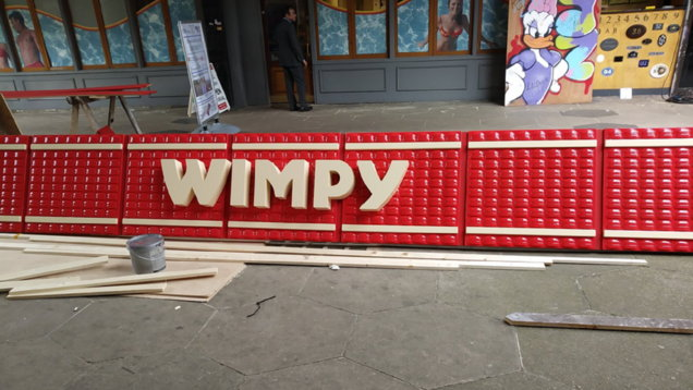 A Wimpy shop sign in Croydon (Stephen Hardy/PA)
