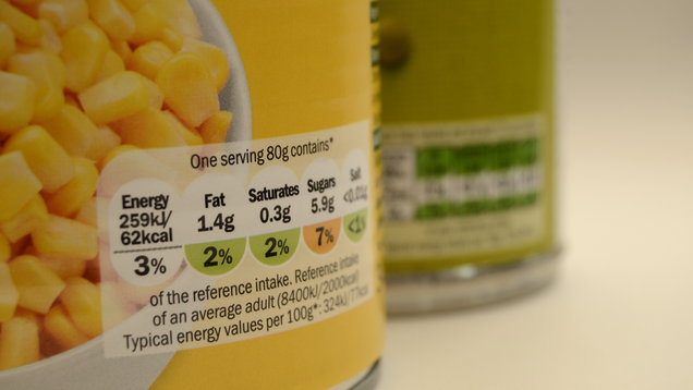 Canned Food Packaging UK Per Serving Nutrition Label