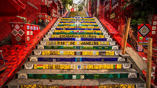 Rio De Janeiro   June 21, 2017: The Selaron Steps In The Historic Center