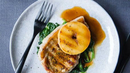 Pork Chop with Toffee Apple