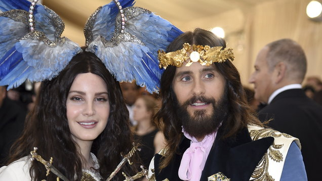 d34f4cf22ba Jared Leto was compared to Jesus for his Met Gala look as he was pictured  alongside Lana Del Rey on the red carpet.