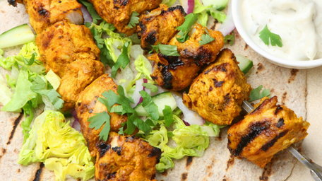 Cape Malay Style Sweet Curry Chicken Kebabs