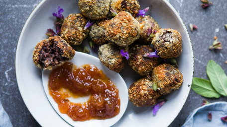 Black Pudding Dipping Fritters