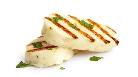 Grilled Haloumi and Hummus