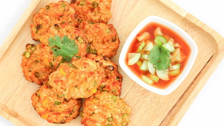 Flash Cumin Chicken Cakes with Preserved Lemon