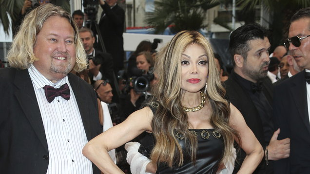La Toya Jackson on the red carpet